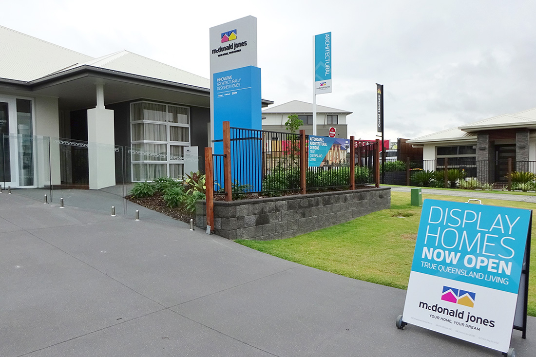 Sunshine Coast Sign Gallery - McDonald Jones Homes - Rochedale External